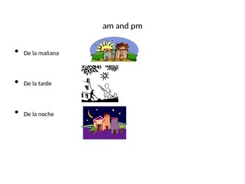 La hora- Telling time in Spanish