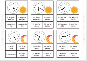 La hora en INGLÉS / The time in ENGLISH/ Rutina diaria / Daily routine