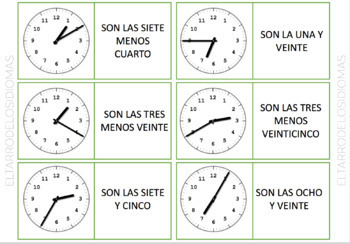 La hora en español / The time in Spanish / Rutina diaria / Daily routine