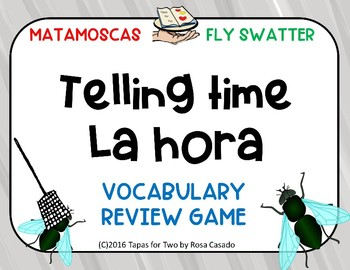 La hora telling time flyswatter game