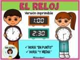Hora y Reloj - Spanish telling time unit