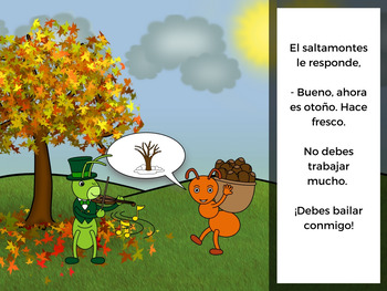 La hormiga y el saltamontes (The Ant and the Grasshopper in Spanish)