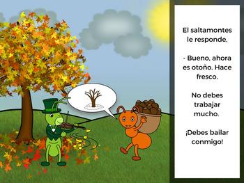La hormiga y el saltamontes (The Ant and the Grasshopper in Spanish)