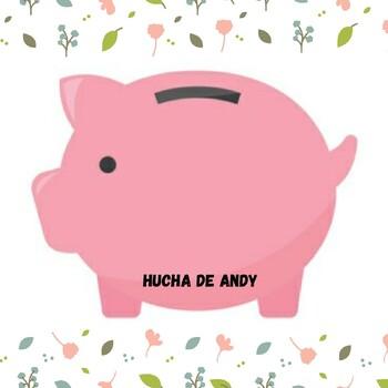 La hucha de Andy- trabajo de números y decimales (monedas)
