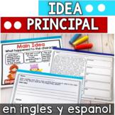 La idea principal en ingles y espanol