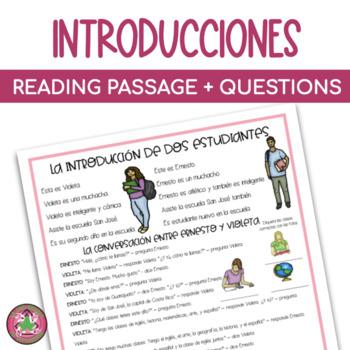 La introducción de dos estudiantes Mini-Cuento