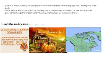 La journée de l'action de grâce/ Thanksgiving