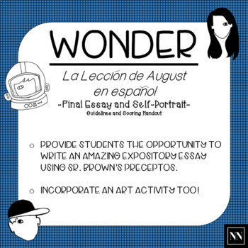 la leccion de proyecto final wonder essay and self  la leccion de proyecto final wonder essay and self portrait