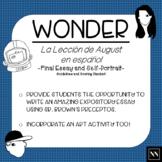 """La lección de August: Proyecto Final (""""Wonder"""" Essay and Self-Portrait)"""