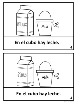 La lechera y su cubo ~ Spanish Milkmaid & her Pail Fable Reader ~Simplified