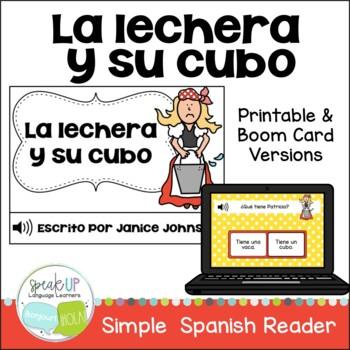 La lechera y su cubo ~ Spanish Milkmaid & her Pail Fable R