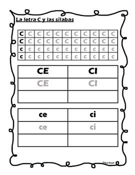 La letra C y las silabas