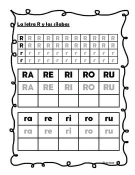 La letra R y silabas