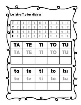 La letra T y silabas