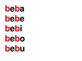 La letra b