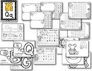 La letra de la semana # 4 (letras ñ, Qq, Ff, Bb y Gg)