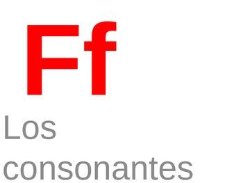 La letra f
