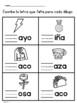 La letra inicial que falta- Missing  Beginning Letter Spanish