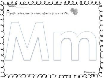 La letra y sílabas con la  Mm
