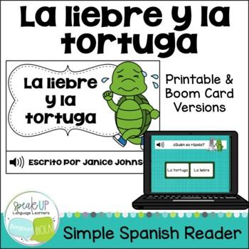 La liebre y la tortuga ~ Spanish Turtle & the Hare Reader ~Simplified
