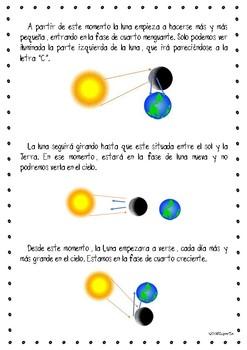 La luna y sus fases en español / Phases of the Moon in Spanish