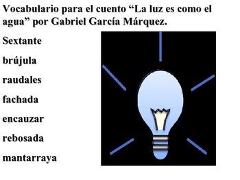 La luz es como el agua por Gabriel García Márquez