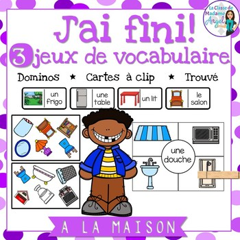 La maison:  3 French House Themed Vocabulary Games