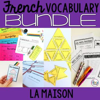 La maison French house vocabulary BUNDLE