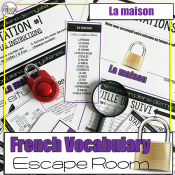 photo about Free Printable Escape Room Kit Pdf known as Vocabulary Escape Space Worksheets Coaching Components TpT