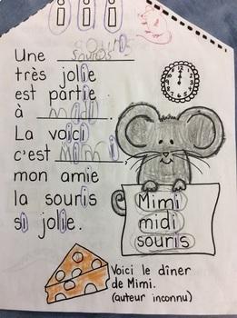 "La maison de Mimi- FRENCH- Phonic Student Work Booklet: le son ""i""- grade 1"