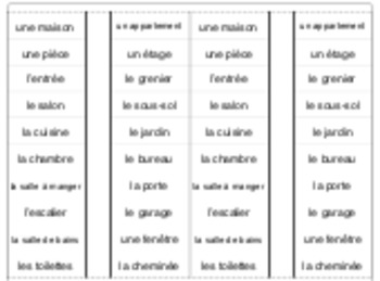 La maison: interactive notebook/cahier interactif French vocabulary HOUSE