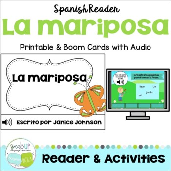 La mariposa ~ Spanish Butterfly Simple Reader  {en español}