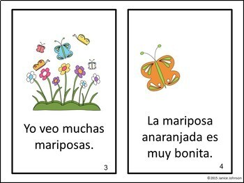 La mariposa ~ The Butterfly ~ Readers {Bilingual version}