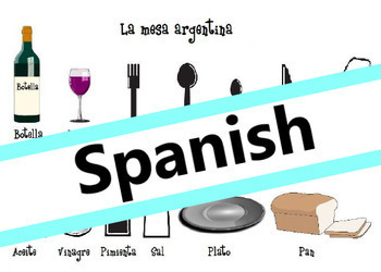 La mesa argentina (Spanish)(Level A1) / Setting the table in Argentina (Spanish)