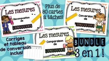 La mesure - Bundle -Cartes à tâches !