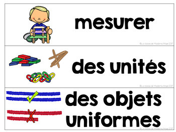 La mesure: Non standard Measurement Unit in French