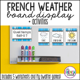 La météo – French Weather Board Display and activities