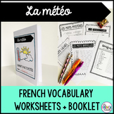 La météo French weather vocabulary activities