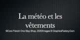 La météo et les vêtements: Weather and Clothing in French Activity Video