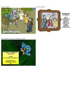 Peer Mediation at School (Spanish): La mirada mediadora - comic strip (Spanish)
