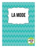 La mode / Fashion Show FSL Unit Plan