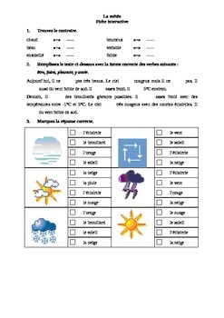 La météo - exercices