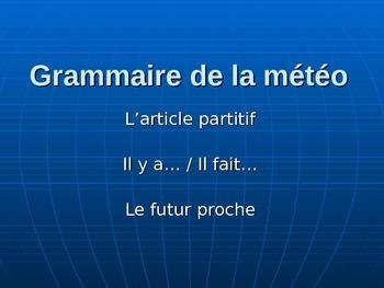 La météo - grammaire