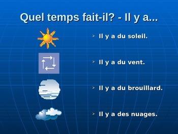 La météo - vocabulaire