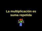 La multiplicacion es suma repetida/ Multiplication Spanish