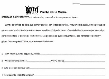 La musica - Spanish Music and Reflexive Verbs weekly unit