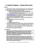 La música hispana - Hispanic Music Essay Assignment