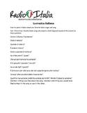 La musica italiana: research project- Italian 3