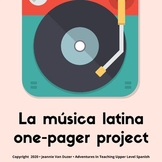 Fun music project for Spanish!