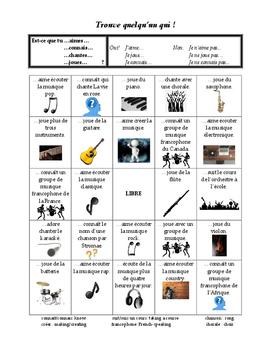 La musique - a communicative mini-unit to explore Francoph
